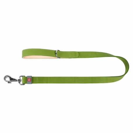 Waudog Classic bőr póráz lime zöld, 14 mm x 122 cm