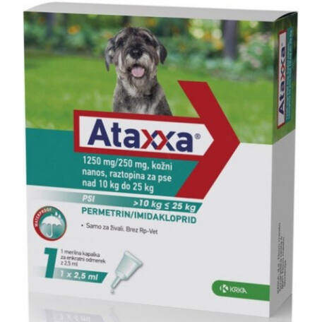 Ataxxa rácsepegtető oldat 10-25 kg közötti kutyák részére