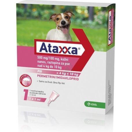 Ataxxa rácsepegtető oldat 4-10 kg közötti kutyák részére