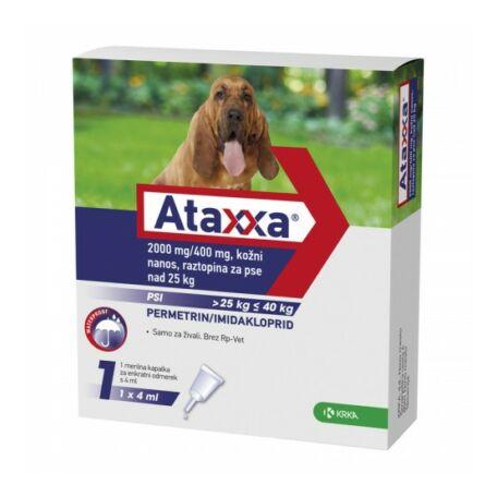 Ataxxa rácsepegtető oldat 25-40 kg közötti kutyák részére