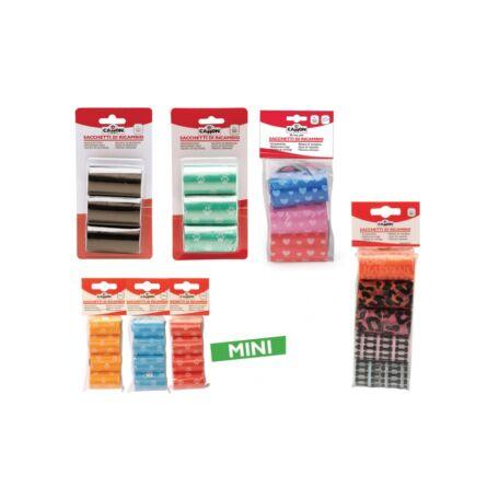 Camon Kutyagumi gyűjtő zacskó színes, tappancsmintás 3 x 20 db
