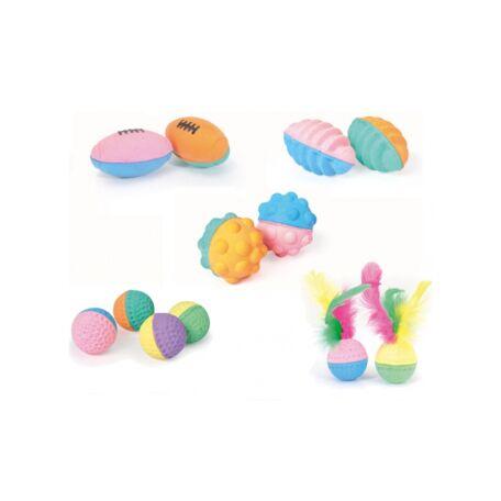 Szivacslabda kerek, színes 4 db/csomag