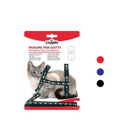 Póráz + hám cicáknak 10x1200 mm