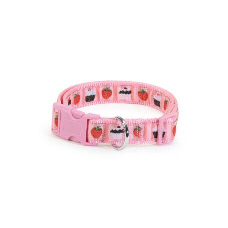 Camon nyakörv rózsaszín eper/muffin mintával 25 mm