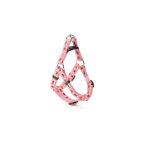 Camon állítható hám rózsaszín eper/muffin mintával 25 mm