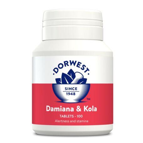 Dorwest Herbs Damiana & Kola tabletta 100db