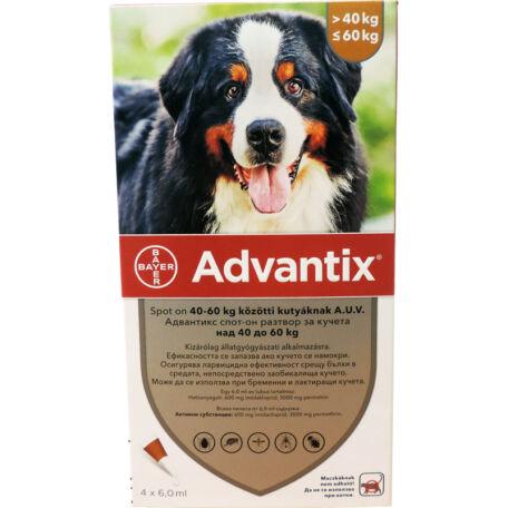 Advantix spot on 40-60 kg közötti kutyák részére 4 db/doboz