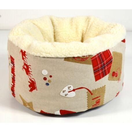 Christmas kisállat fekhely kistestű kutyáknak és cicáknak 50x25 cm