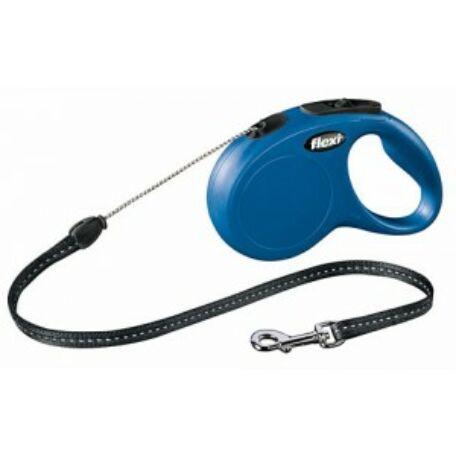 Classic Flexi póráz, (M) 8 m, max 20 kg, kék