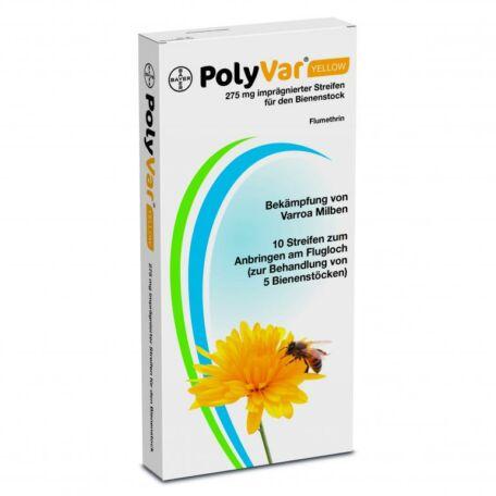PolyVar Yellow 275 mg impregnált csík méhkaptárban való alkalmazásra 10csík/csomag