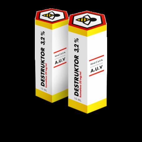 Destruktor 3,2% koncentrátum mézelő méheknek A.U.V. 10ml