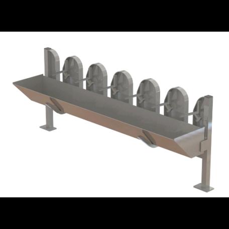 Juh/kecske nyakbefogó szerkezet 6 férőhelyes