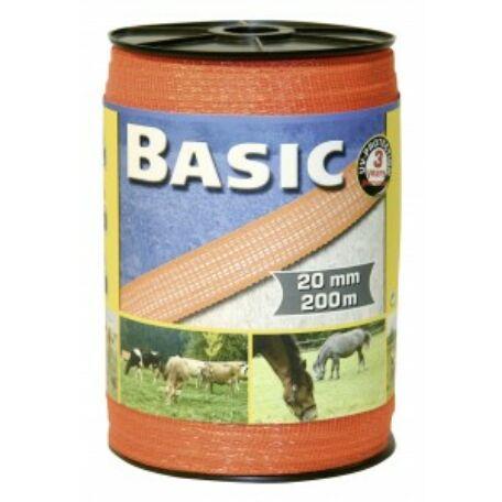 Basic szalag 200 m/20 mm narancs