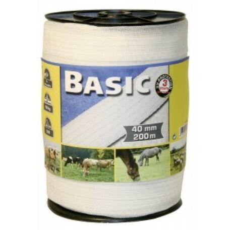 Basic szalag 200 m/40 mm fehér
