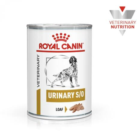 Royal Canin Urinary S/O konzerv táp kutyáknak 410 g