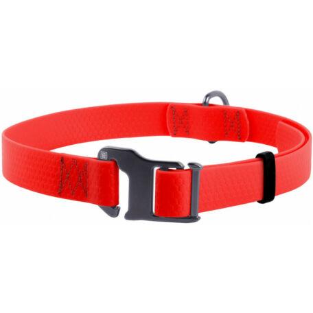 Waudog vízálló nyakörv, 25 mm széles, 35-70 cm hosszú, piros