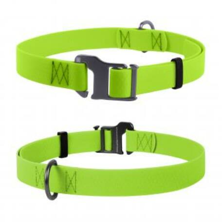 Waudog vízálló nyakörv, 25 mm széles, 35-70 cm hosszú, lime zöld